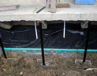 Foundation repair and drainage system install